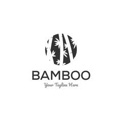 bamboo logo designs inspiration in negative space logo