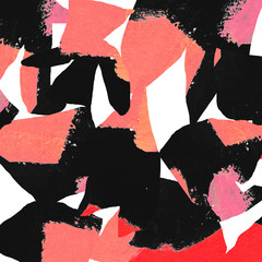 Messy Abstract Art Background with Pink and Black Colours