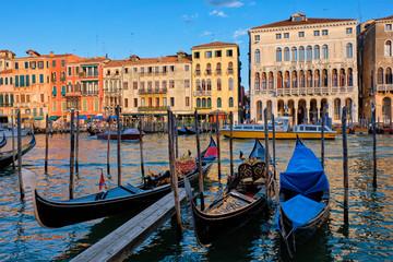 Türaufkleber Gondeln Grand Canal in Venice, Italy
