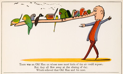 Old Man on Whose Nose, Edward Lear