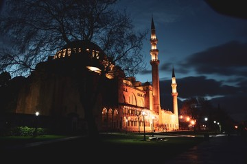 View of the majestic Suleymaniye Mosque, Istanbul. Turkey. Fatih, landmark