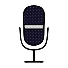 comic book style cartoon radio microphone