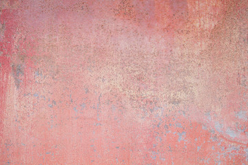 Old red metallic wall background or texture Wall mural