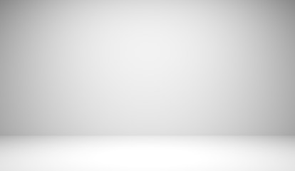 Abstract luxury white gradient background used for display product ad and website template, 3D illustration.  Wall mural