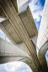 tall highway bridge infrastructure concrete jungle