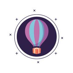 balloon air hot in frame circular