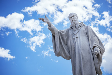 Saint Benedict statue in Italy