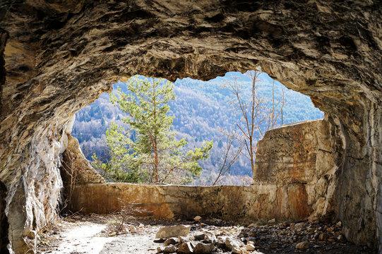 Aussicht aus der Höhle