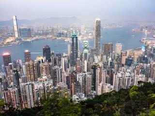 ヴィクトリア・ピークから眺める香港 夕景
