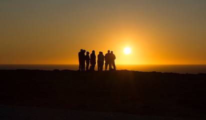 Puesta de sol en Sagres. Portugal