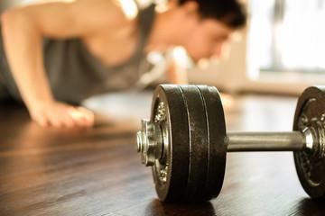 Improvement and fitness training concept. Dedication, motivation and progression