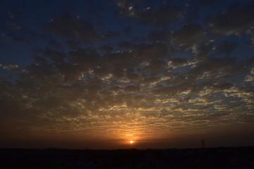Dramatic nature while sunset