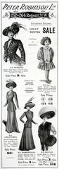 Advertisement for Peter Robinson Winter GArments 1909