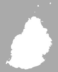 Karte von Mauritius