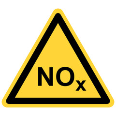NOx  und Warnschild