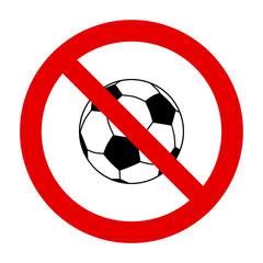 Fußball und Verbotsschild