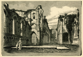 Ruins of Fountains Abbey, Yorkshire