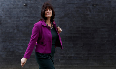 Britain's Minister of State for Energy and Clean Growth Claire Perry is seen outside Downing Street in London