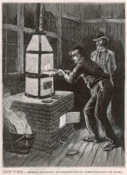 Edison at Work 1880