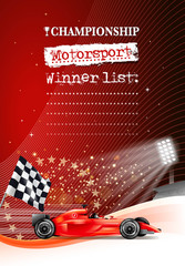 race car finishing