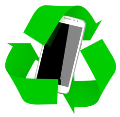 smartphone inside symbol recycle