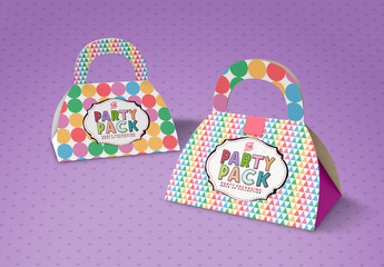 Party Gift Bag Packaging Mockup
