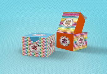 Party Box Packaging Mockup
