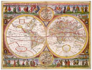 Overton World Map 1670