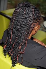 coiffure tresses femme noire