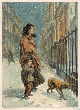 Homeless Girl, Boy Dog