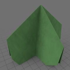 Four sided origami bush