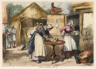 Baking Day Outdoors 1872