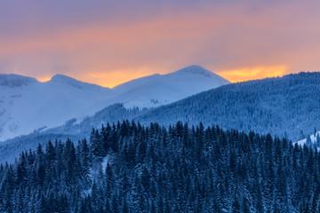 sunrise in Bucegi Mountains, Romania