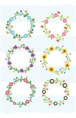 floral wreath flowers