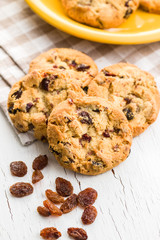 Poster Cookies Sweet cookies with raisins.