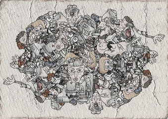 abstract robots Wall mural