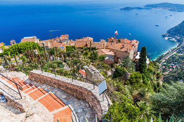Eze, France. Medieval town on the French Riviera.