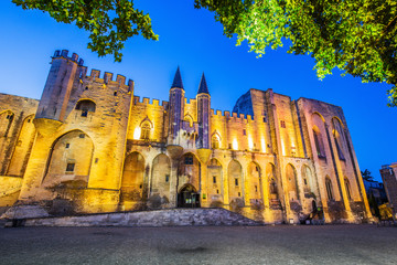 Provence, France. The Popes Palace of Avignon.