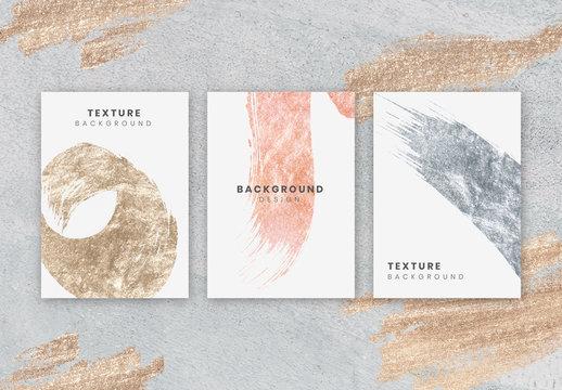 Letterhead with Metallic Brushstroke Elements