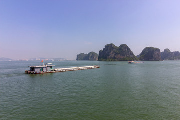 Beautiful panorama of Ha Long Bay (Descending Dragon Bay) popular tourist destination in Asia. Vietnam.