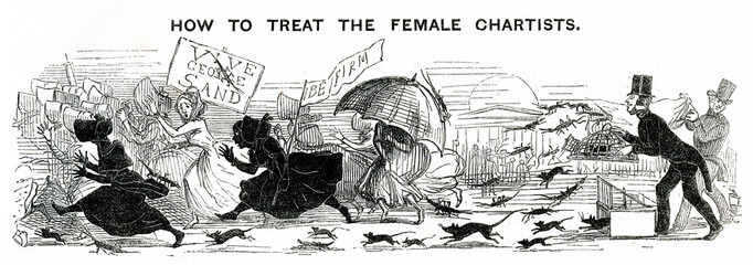 Female Chartists Cartoon 1848
