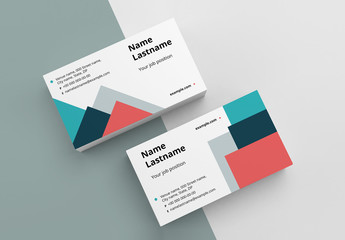 Colorful Shapes Business Card Layout