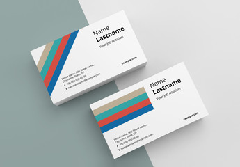 Colorful Stripes Business Card Layout