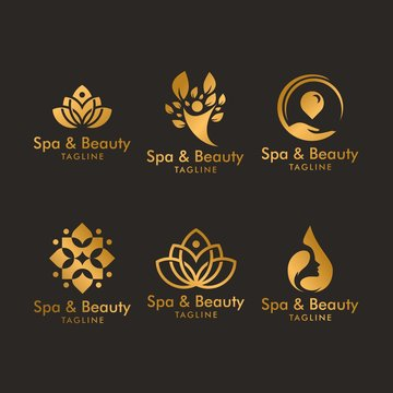 luxury spa logo design inspiration