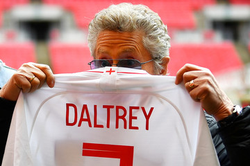 Roger Daltrey of British band The Who poses for a picture at Wembley Stadium in London
