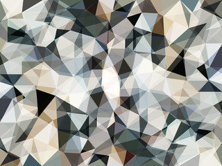 Vector Abstract Grey Geometric Background with Triangles. Textured Wallpaper of Artistic Stones in Low Poly Style. Vector illustration of Fond in Pastel Colors. Modern Concept for Graphic Design