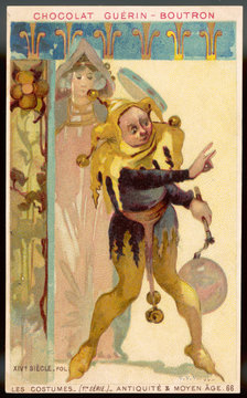 Costume Men Jester 14th Century