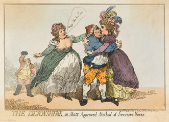 1784 Cartoon Devonshire