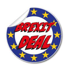 Aufkleber Brexit Deal