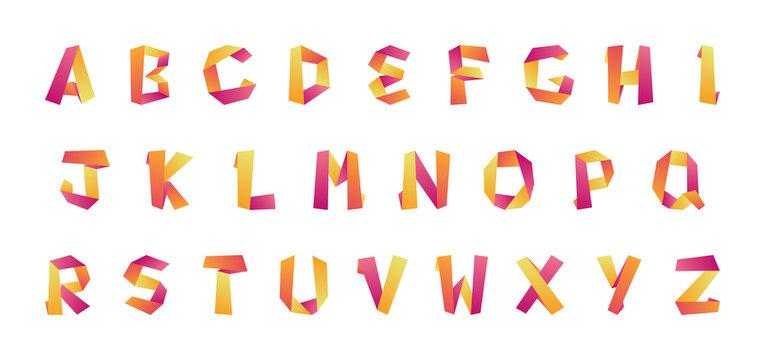 Alphabet et lettres en origami - Abécédaire
